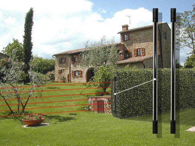 Barriere perimetrali a 6 raggi infrarossi filari - Allarmi casa senza fili ...